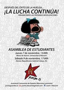 asamblea abierta huelga 24O